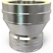 Flexible liner adaptor to Twin wall flue pipe - 100mm 4 inch Diameter (671)
