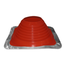 """6"""" inch Flat / metal roof flashing high temp Red EPDM for 6"""" twin wall flue"""
