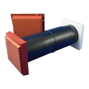 Cowled Baffled ventilator LookRyt Aircore - Terracotta - 125mm HETAS Approved