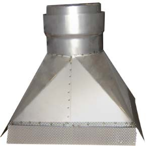 "9"" inch Gather Hood (300x200) x 225mm"