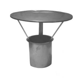 "6"" inch Protection Sleeve c/w integrated Rain Cap x 150mm"