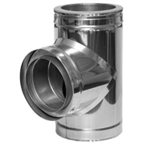 Twin Wall flue 93 Tee (31A) - 100mm Dia