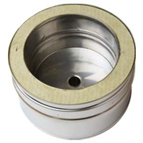 "8"" inch Twin Wall Tee Cap with Drain (061)"
