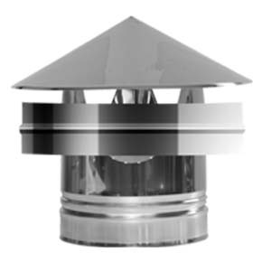 Twin Wall flue Weathering Cap (012) - 100mm Dia