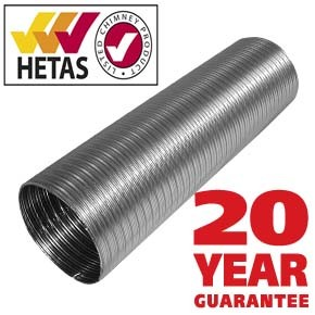 Flexible liner 904 grade Multi fuel 125mm 5 inch - 25yr warranty - 60% off Special Offer!