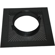 "5"" inch Black ventilated fire stop plate twin wall flue"