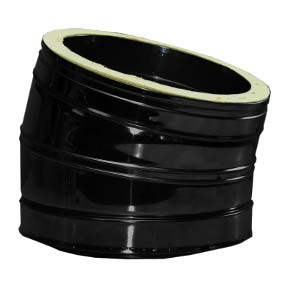 "7"" inch Black twin wall flue - 30º Bend"