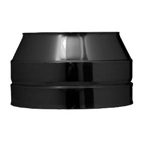 "5"" inch Black Twin wall Flue Open Terminal"