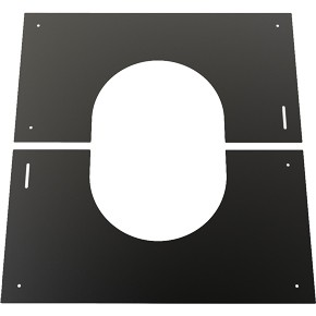Black Twin wall Flue Finishing Plate 30-45 - 130mm Dia