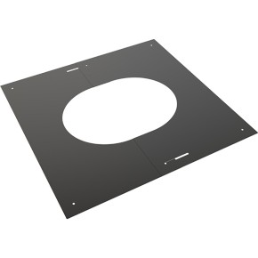 "6"" inch Black Twin wall Flue Finishing Plate 30-45"