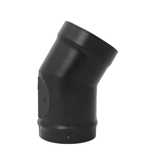 "5"" inch Vitreous Enamel 30/150 Deg Elbow with Door Matt Black"