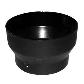 "6"" inch Vitreous Enamel Increaser Adapter Matt Black"