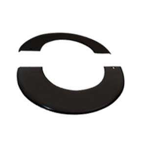Vitreous Enamel 200mm Split Rosette Collar Matt Black