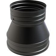 "7"" inch Black twin wall flue to FLEX Adapter"