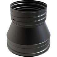 "8"" inch Black twin wall flue to FLEX Adapter"