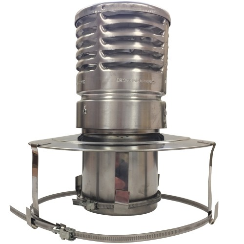 Pot Hanging Gas Cowl Stainless Steel - Ø 125