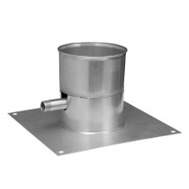 """12"""" inch Single Wall Base Plate with Drain (65)"""