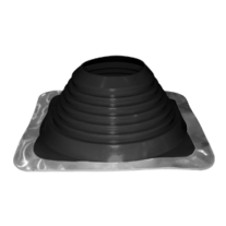 """6"""" inch Flat / metal roof flashing EPDM for 6"""" twin wall flue"""