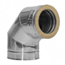 "4"" inch Twin Wall insulated flue 90 Elbow (433)"