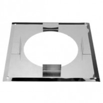 "4"" inch Twin Wall flue Basic Firestop Plate S/S (064)"