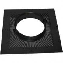 Black ventilated fire stop plate - 150mm dia twin wall