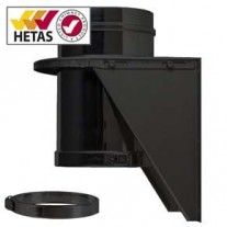 "7"" inch Black twin wall flue - Adjustable Base Support"