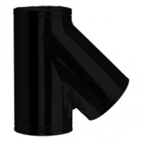 "7"" inch Black twin wall flue - 135º Tee"