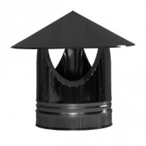"7"" inch Black twin wall Rain Cap"