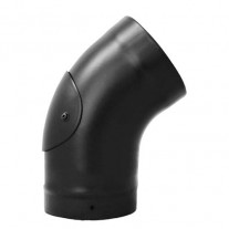 "5"" inch Vitreous Enamel 45/135 Deg Swept Elbow with Door Matt Black"