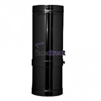 "7"" inch Black twin wall flue - Adjustable Pipe 355-500mm"