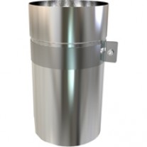 "7"" inch Telescopic stainless flue Pipe; Adjusts from 250mm - 400mm"