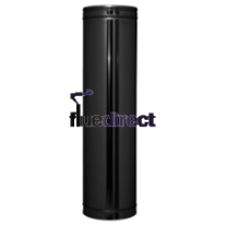 "8"" inch Black twin wall flue - Pipe 500mm"
