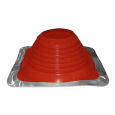 "5"" inch Flat / metal roof flashing high temp Red EPDM for 5"" twin wall"