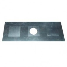 "5"" inch Register Plate G - 900x495 - central flue hole 125mm/150mm plus two access holes"