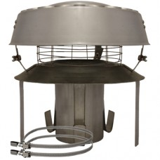 """6"""" inch Pot Hanging Cowl - Stainless/ Straps / Mesh x 150mm"""