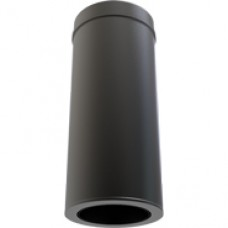"6"" inch Black Twin wall Flue Starter Length 940mm"