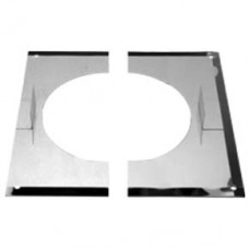 "6"" inch Twin Wall flue Finishing Plate 30-45 degrees(132)"