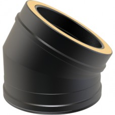 Black Twin wall Flue 30 Elbow  - 150mm Dia