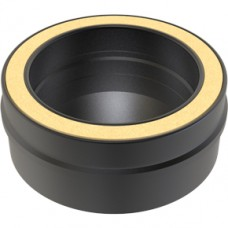 Black Twin wall Flue Tee Cap - 130mm Dia