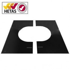 "8"" inch Black twin wall flue - Finishing Plate 30-45º"