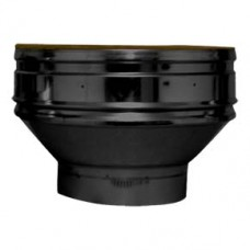 Black twin wall flue - Increaser SW to twin wall 200-250mm