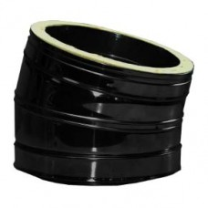 "8"" inch Black twin wall flue - 30º Bend"