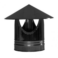 "8"" inch Black twin wall flue Rain Cap"