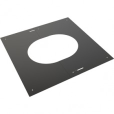 "5"" inch Black Twin wall Flue Finishing Plate 0-30"