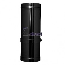 black twin wall flue pipe adjustable length