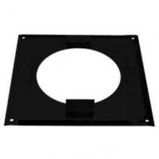 "7"" inch Black twin wall flue - Firestop Plate"