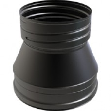"8"" inch Black twin wall flue to FLEX Adapter"