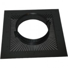 "8"" inch Black twin wall flue - Ventilated Firestop Plate (BLACK)"